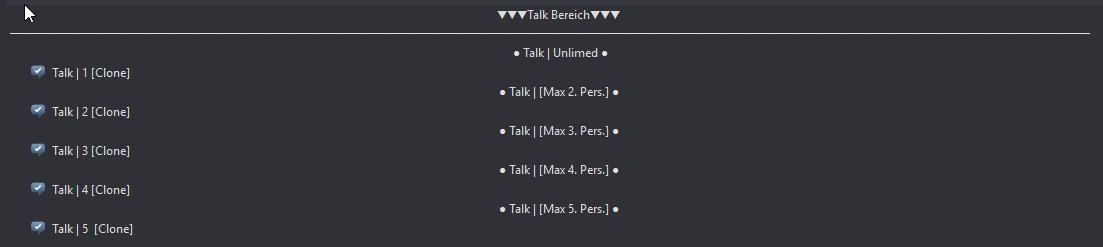 Upgrade des Talk-Bereiches