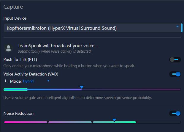 Teamspeak 5 Beta Audio Einstellungen